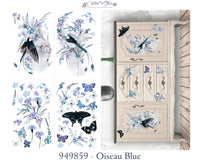 Hokus Pokus Decorative Transfer - Oiseau Blue 94cm x 64cm
