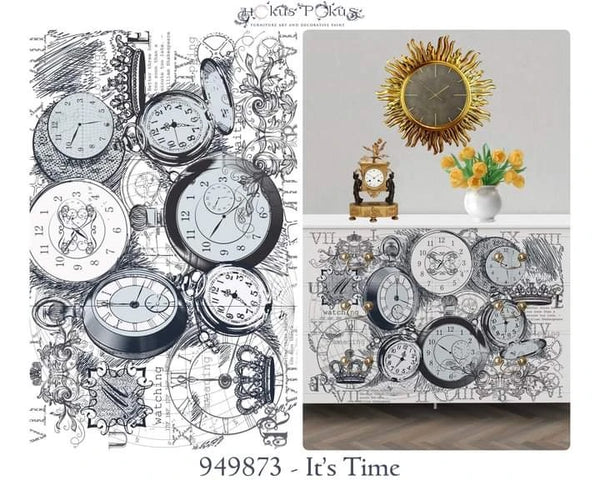 Hokus Pokus Decorative Transfer - NEW It's Time