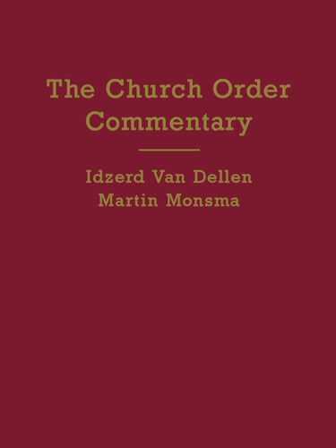 Should we print the church order commentary?