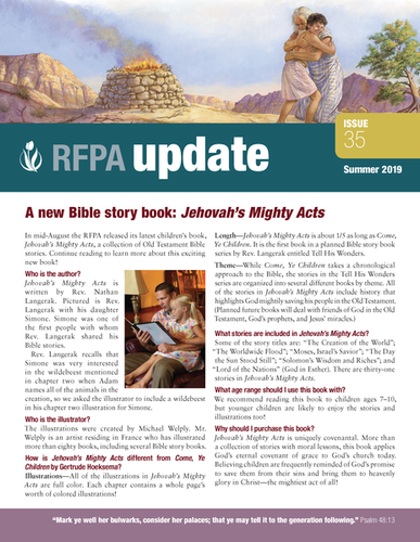 RFPA Update newsletter - Summer 2019