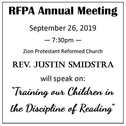 RFPA Annual Meeting - THIS THURSDAY