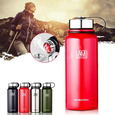 Sports Travel 1500ml Vacuum Double Insulated BPA Free Walled Stainless Steel - hobbyola