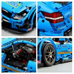 MOC Technic C63 DTM RC Racing Car 42056 42083 LED Light Building Blocks 1989Pcs+ - hobbyola