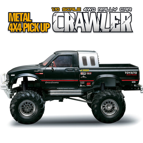 Remote Control Cars RC Car 1/10  RTR 2.4G 4WD Metal 4X4 Truck Rock Crawler Toy - hobbyola
