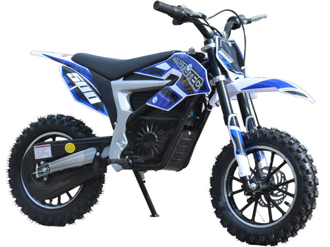 Electric Scooter Dirt Bike 36v 500w Lithium Battery Blue By MotoTec - hobbyola