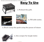 Barbecue Stainless Steel Steam Cleaning Grill Brush BBQ Cooking Tools - hobbyola