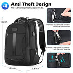 Travel Anti-Theft Water Resistant Unisex Backpack Bag USB Charging Port - hobbyola