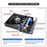 Sports Outdoor 6 pcs Camping Stove Set - Camping Cookware Case For Backpacking - hobbyola
