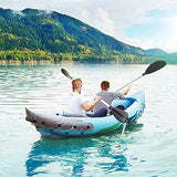 Sports And Outdoors 2-Person Inflatable Kayak Set Inflatable Boat Air Foot Pump - hobbyola