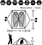 Sports Outdoor Pop Up Two Person Camping Tent Backpacking Lightweight Waterproof Easy Set up - hobbyola