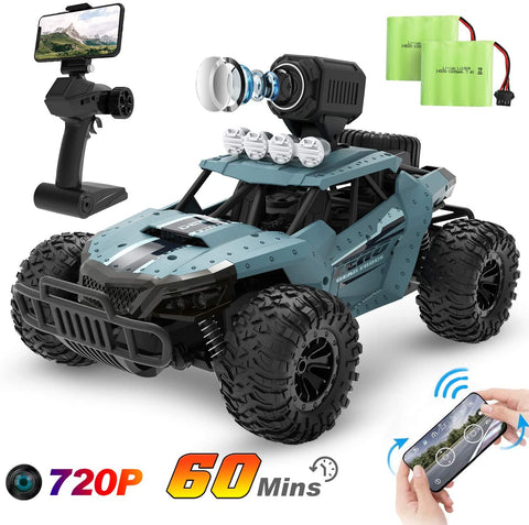 Car Toys 1/16 Scale Off-Road RC Car High Speed Monster Trucks For Kids Adults 2 Batteries - hobbyola