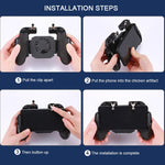 PUBG Mobile Game Controller Gamepad Trigger Aim Button L1R1 Shooter Joystick For IPhone Android Phone with Cooler Cooling Fan - hobbyola