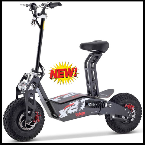 Scooters MotoTec Vulcan 48v 1600w Electric Scooter Black - hobbyola