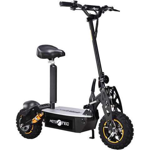 Powerful MotoTec 2000w 48v Electric Scooter Black - hobbyola