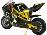 MotoTec Mini Gas Pocket Bike GT Mini Motorcycle Gas Power 49cc 2-Stroke - hobbyola