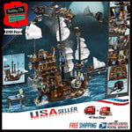MOC Movie Series Pirate Ship Metal Beard's Sea Cow Blocks Toy 2791pcs Funny Toys - hobbyola