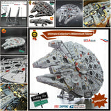 Ultimate Collector's Millennium Falcon Set With LED Lights Building Blogs 7541+ pcs - hobbyola