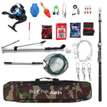 Outdoor Telescopic Fishing Rod Reel Combo Set 19pcs W/Fishing Tools Set - hobbyola