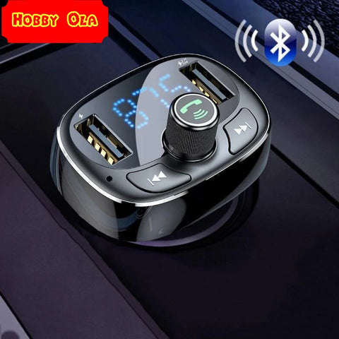 Car Charger FM Transmitter Aux Modulator Bluetooth Handsfree Mobile Phone Charger - hobbyola