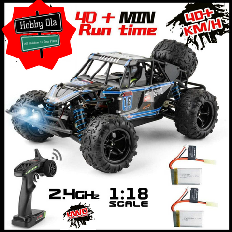 RC Car Electric 1/18 Off-Road Vehicles RTR 2.4G 4WD 40km/h with Two Batteries - hobbyola