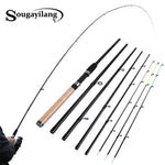 Fishing Rods Ultralight 6 Sections Portable Fishing Rod Carbon Rod Spinning Travel Rod - hobbyola