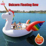 Sports PVC Giant Inflatable Unicorn Float Party Bird Island Big Animal Boat 6-8persons - hobbyola
