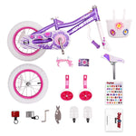 Ride On Toys 14 inch Children Bicycle Girl's Kids Bike Pink And Purple - hobbyola