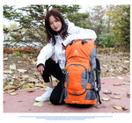 New Outdoor Multi-Purpose 50/60l Backpack Camping For Women Men  With Rain Cover - hobbyola