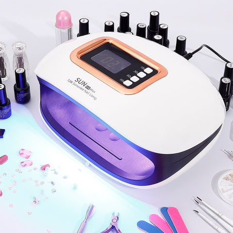 72W UV LED Nail Lamp with 36 LEDs Two Hand Lamp Nail Dryer Manicure Curing Nail - hobbyola