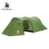 Outdoors 3-4 Person Camping Tent Waterproof Double Layer Two Bedrooms - hobbyola