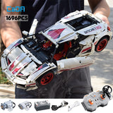 Funny Games  Remote Control Racing Car Set Building Blocks LED Lights Kit - hobbyola