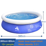 Family Inflatable Swimming Pool Large Size Round Swimming Pool For Adult - hobbyola