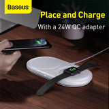 2 in 1 Fast Wireless Charger Pad Multi-angle Charging For Apple Watch For iPhone - hobbyola