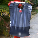 Outdoor 20L Water Bag Foldable Solar Energy Heated Camp PVC Shower Bag - hobbyola