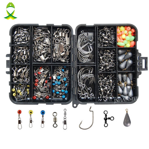 Hobby Ola 160pcs Fishing Tackle Box Set Accessories For Freshwater  Saltwater Fishing - hobbyola
