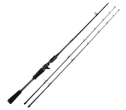 Hobby Ola Spartacus Carbon Body Casting Fishing Rod With 2 Rod Tips 1.98m 2.13m Baitcasting Rod - hobbyola