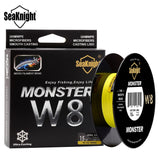 MONSTER W8 Fishing Line  300M 500M Super Smooth PE Braided Multifilament Fishing Lines - hobbyola