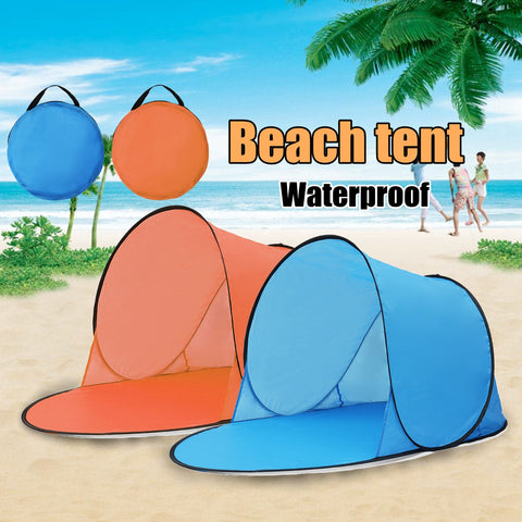 Outdoor Portable 2-3 Person Tent UV Beach Camping Tent Pop Up Open Beach Mat Folding Automatic - hobbyola