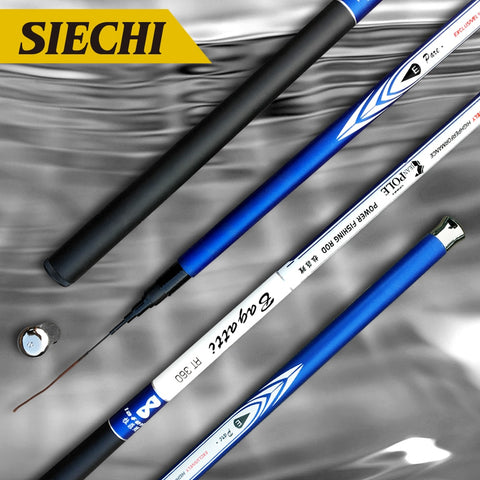Fiber Casting Telescopic Fishing Rods Ultralight Superhard 3.6/4.5/5.4/6.3/7.2 Meters - hobbyola