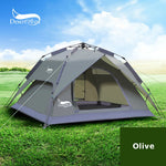 3-4 Person Pop up Camping Tent 4 Seasons Large Space Double Function Waterproof Sun Shelter Handbag - hobbyola