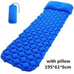 Double Sleeping Pad - Inflatable Camping Air Mattress Backpacking Self-Driving Tour Hiking Tent - hobbyola