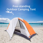 Outdoor Free-standing Camping Hiking Climbing Sleeping Tent Sunlight Shelter Waterproof - hobbyola