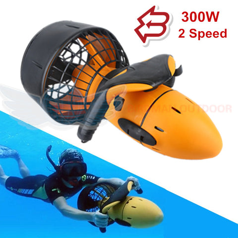 300W Electric Underwater Sea Scooter Water Sea Dual Speed Propeller Submarine Toy - hobbyola