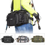 Outdoor Sports Multifunctional Fishing Tackle Bags Waist Pack Fishing Lures Gear - hobbyola