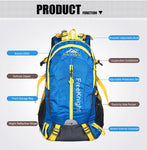 Sports Outdoor 40L Waterproof Breathable Backpack Traveling Unisex Tactical Camping Climbing Bags - hobbyola