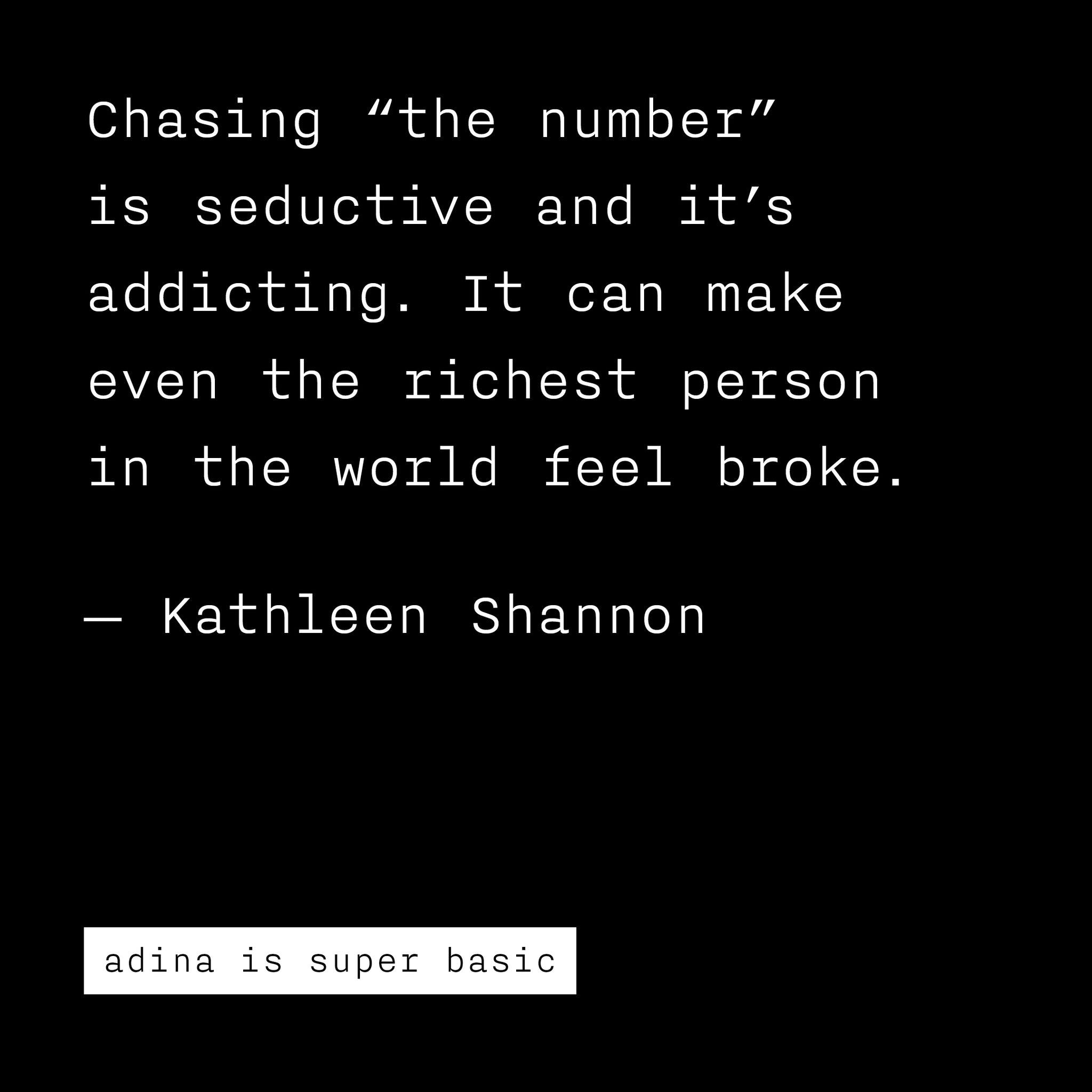 getting rich with kathleen shannon
