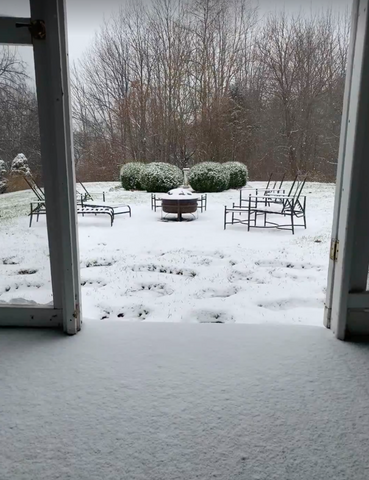snowy hudson valley porch