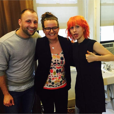 Hayley Williams of Paramore with Adina Grigore of S.W. Basics