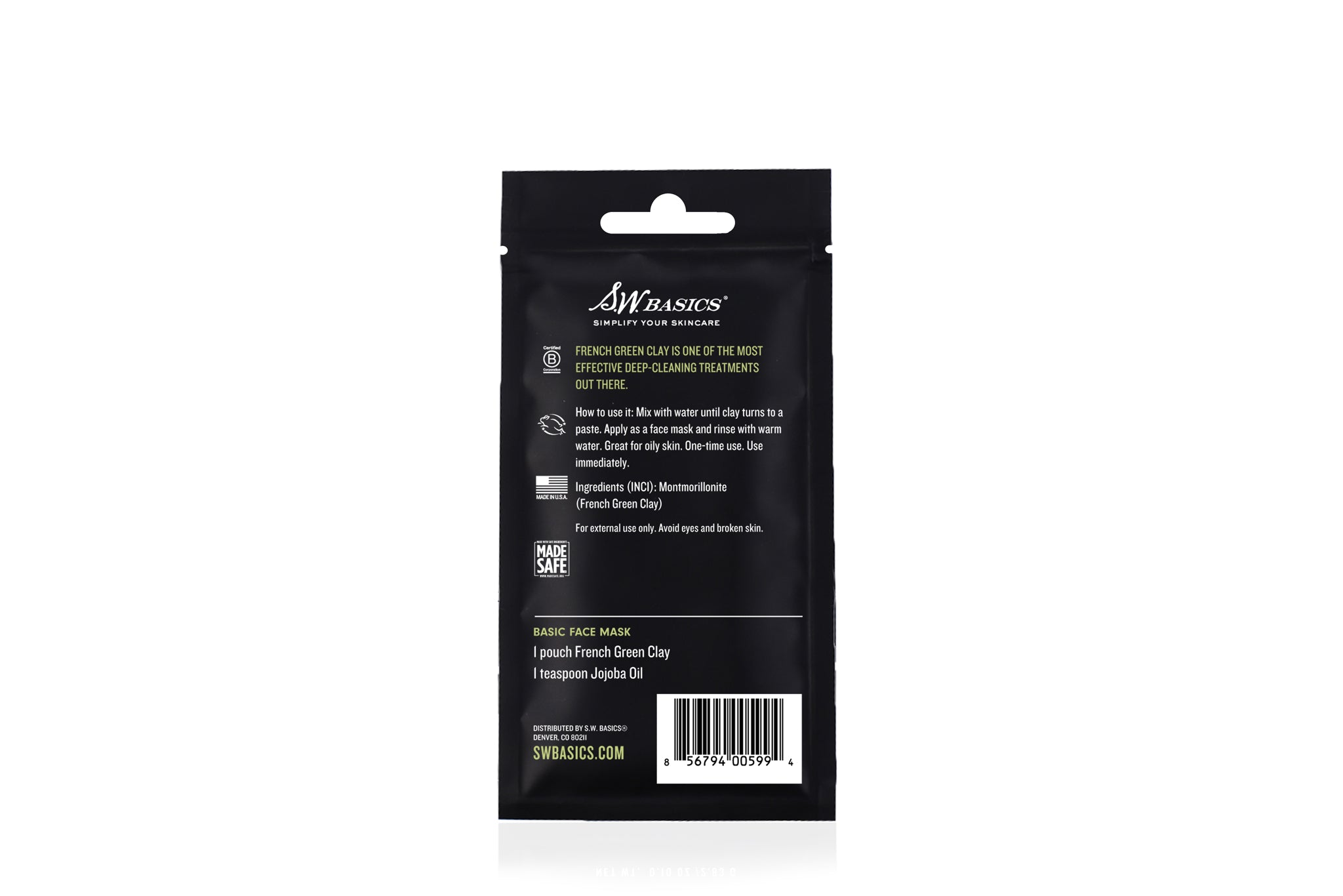 French Green Clay Packet (5-Pack)