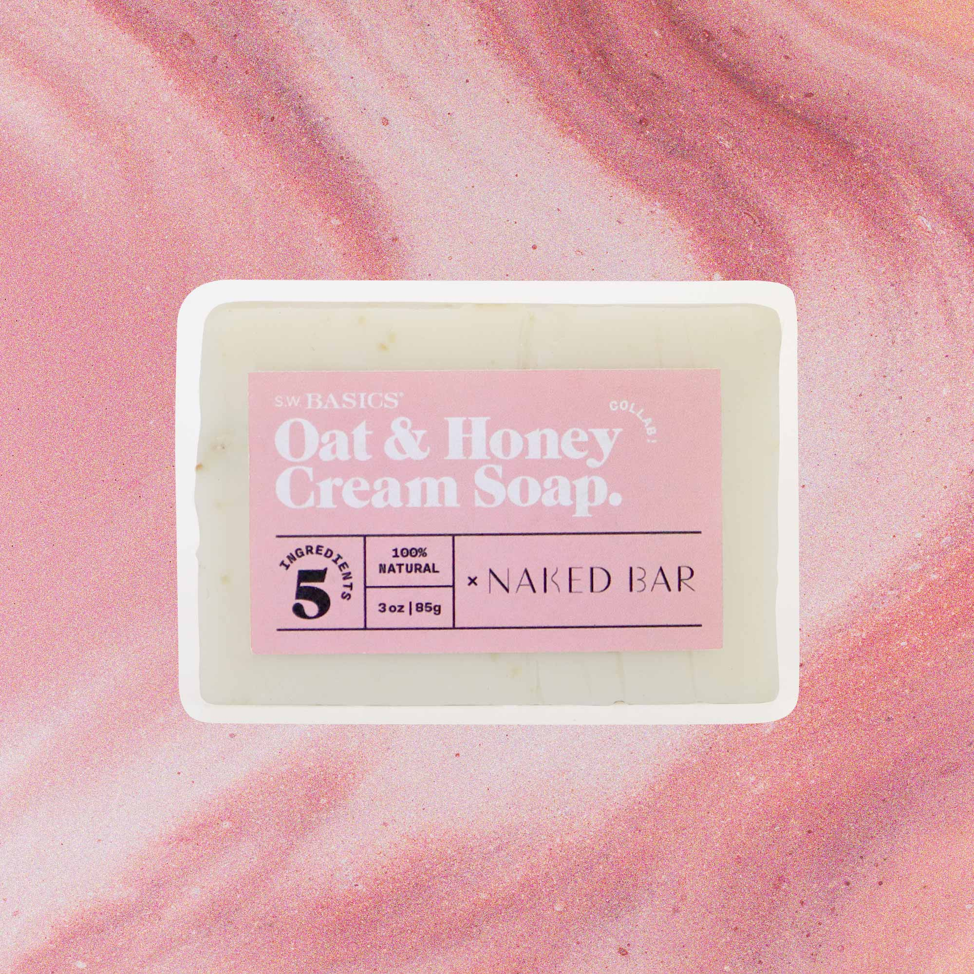 S.W. Basics x Naked Bar Soap Co. Oat & Honey Cream Soap.